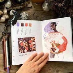 """Sketch/ illustration on Instagram: """"A little bit of colour exercises Есть цвета, которых я ээээ избегаю в своих работах. Например, вот такой лиловый. Он точно вне зоны моего…"""""""