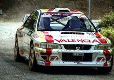 Luis Climent: Spanish Tarmac Rally Champion. FIA Teams WRC Champion. pic SUBARU IMPREZA WRC 98 Subaru Rally, Subaru Impreza Wrc, Rally Car, Japan Cars, Cars Motorcycles, Racing, Trucks, Motor Sport, Vehicles