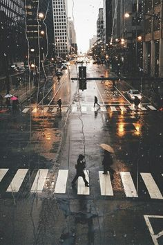 Rain in the city