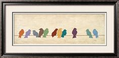 Birds Meeting Print by Patricia Quintero-Pinto at Art.com