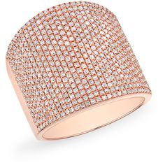 Anne Sisteron  14KT Rose Gold Diamond Aegis Ring (226.265 RUB) ❤ liked on Polyvore featuring jewelry, rings, rose, rose gold jewelry, pink gold rings, rose jewellery, rose diamond ring and diamond jewelry