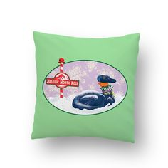 Jurassic North Pole Pillow from Alyssa M Torres for $19.84
