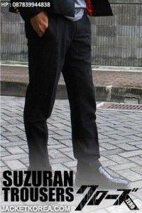 Celana Crows Zero Takiya Genji - Suzuran Trousers (tampak full) Zero Clothing, Zero Seven, Anime Jacket, Crows Zero, Trousers, Pants, Korean Fashion, Blazer, Model
