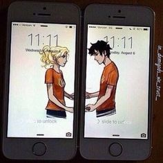 This makes me sad because they are in different phones so when you lose a phone then one of them are alone
