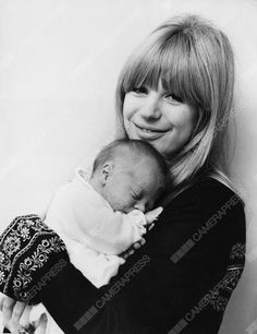 Marianne​ Faithfull pictured with her​ new born son, Nicholas Dunbar. Bill Francis/Camera​Press/Redux
