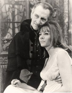 Peter Cushing and Ingrid Pitt ~ Sometimes I'm not sure which one I envy more in this photo! Both are legends.