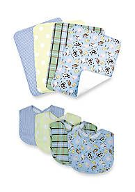Trend Lab® Baby Barnyard 4 Pack Bib and 4 Pack Burp Cloth Set - Online Only