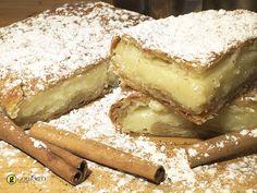 Η κλασσικήμπουγάτσαεύκολη και γρήγορη θα σας ξετρελάνει με την βελούδινη κρέμα της και το τραγανό της φύλλο. Greek Sweets, Greek Desserts, Greek Recipes, The Kitchen Food Network, Sweets Cake, Appetisers, No Bake Cake, Cake Cookies, Food Network Recipes