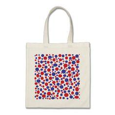 Patriotic Polka Dots Tote Bag