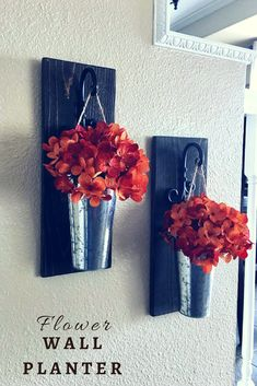 Easy hanging galvanized set of wall sconces are so perfect for adding a touch of color with flowers to your house #ad #homedecor