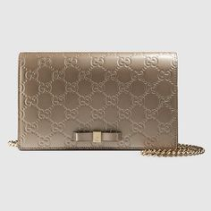Metallic Gucci Signature mini bag