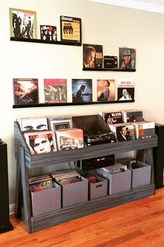 Home audio console with vinyl record storage by DK Vinyl Displays. A vinyl room center piece. We have all your music room decor and design pieces. Vinyl record storage stands and cabinets, audio racks…More audio room vinyl records Vinyl Record Display, Vinyl Records Decor, Vinyl Record Cabinet, Record Decor, Vinyl Record Stand, Vinyl Shelf, Vinyl Decor, Lp Regal, Vinyl Platten