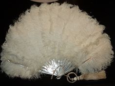 Vintage Amazing Ostrich /Mother of pearl Antique Fan
