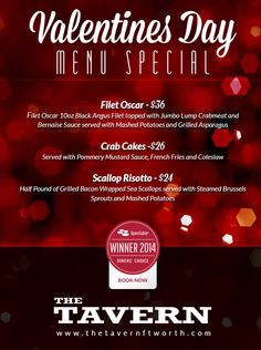 Happy Valentines Day from The Tavern   Fort Worth! www.thetavernftworth.com