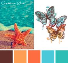 Try this Caribbean Sun color scheme out on your embroidery designs for a saturated and summery feel.
