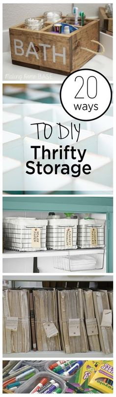 20 Ways to DIY Thrifty Storage (1)