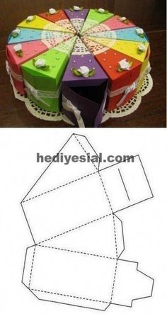 This is the perfect DIY gift for a movie buff! The box frame opens from the fron.This is the perfect DIY gift for a movie buff! The box frame opens from the fron. Paper Crafts Origami, Diy Paper, Paper Crafting, Paper Cake, Free Paper, Diy And Crafts, Crafts For Kids, Paper Box Template, Gift Box Templates