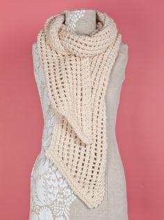 Free Loom Pattern: Loom Knit Lacy Scarf