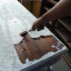 DIY Video: How to Strip Furniture {wood refinishing}