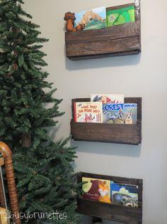 Adventure Nursery Pallet Board Bookshelves