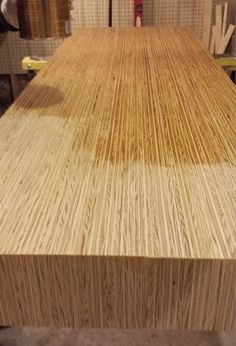 this gives me an idea for a cheap countertop for a kitchen.- this gives me an idea for a cheap countertop for a kitchen. Need to invest in mo… this gives me an idea for a cheap countertop for a kitchen. Need to invest in more wood clamps! Plywood Countertop, Cheap Countertops, Laminate Countertops, Concrete Countertops, Kitchen Countertops, Painted Countertops, Plywood Kitchen, Wooden Kitchen, Plywood Projects
