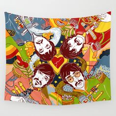 Sgt.+Pepper's+Lonely+Hearts+Club+Band+Wall+Tapestry+by+Julia+Minamata+-+$39.00