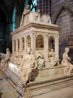 Tombs of Louis XII and Anne of Britanny --- Saint-Denis' Basilica in Paris –…