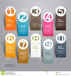 infographics business | Related Image with Business Infographics Number Paper Cut Template ...