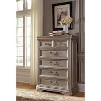 Signature Design by Ashley Birlanny Silver Five Drawer Chest