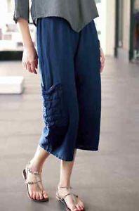 Oh My Gauze Cotton Splash Pocket Pant 1 s M 2 L XL 3 1x 2X Tobacco   eBay