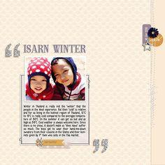Digital Scrapbook Layout by Myau featuring Winter's Tale