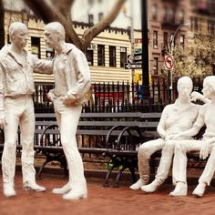 christopher park, nyc. george segal.