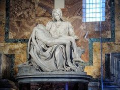 #Michelangelo's Pietà - perfection in marble at the ripe old age of 24. Tomorrow is #ArtMuseumDay !