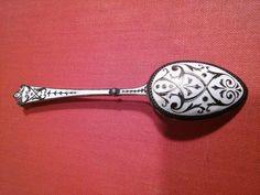David Anderson Norway Norweigen 925 Silver Enamel Spoon sold for GBP 30.00