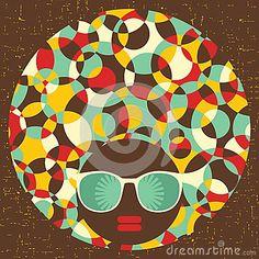 geometric shapes to create a woman