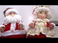 Ilustracion y Paso a Paso para Hacer Gorditos Navideños - Hogar Tv por Juan Gonzalo Angel - YouTube Christmas Crafts, Christmas Decorations, Xmas, Christmas Ornaments, Holiday Decor, Primitive Doll Patterns, Dyi Crafts, Felt Dolls, Dollar Stores