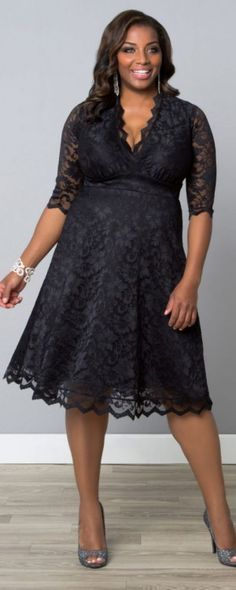 Beautiful three quarter sleeve dress that is tea - length, comfortable fit, and comes in plus sizes - mothers of the groom what do you think?