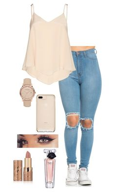 """""""Sem título #916"""" by sr-magcult-bieber-gomez ❤ liked on Polyvore featuring Alice + Olivia, Burberry, tarte and Lancôme"""