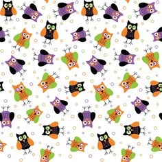 Seamless Halloween Print 7 by DonCabanza on DeviantArt Whimsical Halloween, Halloween Owl, Halloween Clipart, Halloween Fabric, Halloween Prints, Halloween Patterns, Halloween Coloring, Holidays Halloween, Owl Wallpaper