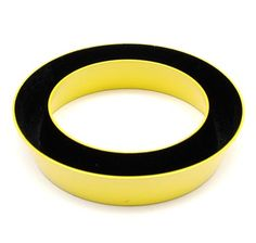 HERMAN HERMSEN 1953 - Bracelet Cones of yellow and black lacquered aluminium design execution 1986 the Netherlands