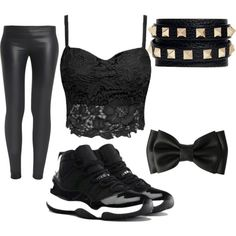 BLACK by smcraycray23456765 on Polyvore featuring polyvore fashion style The Row Valentino NIKE