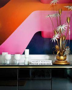 Mood Board Inspiration, Interior Design Inspiration, Color Inspiration, Interior Ideas, Pop Art Vintage, Interior Styling, Interior Decorating, Consoles, Deco Paris
