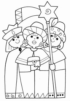 Reyes Magos/Three Wise Kings, would make great embroidery pattern Nativity Crafts, Christmas Nativity, Kids Christmas, Childrens Christmas Crafts, Christmas Activities For Kids, School Coloring Pages, Three Wise Men, Christmas Coloring Pages, Sunday School Crafts