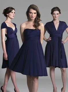 Navy Multiway Dress - In One Clothing