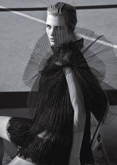 Paris Style: Tamara Slijkhuis by Thomas Krappitz for Elle Germany August 2015 - Valentino Fall 2015