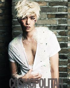 Lee Min Ki looking all sparkly and punk rock all at the same time for Cosmopolitan (Korea).