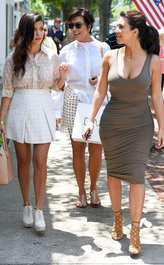 Kourtney, Kris, and Kim keep it trendy during their ladies day out.