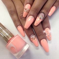 .@nailsbymztina | Ready for summer type of color | Webstagram