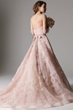 Blush Deco detailed Edlin Gown by Watters Brides
