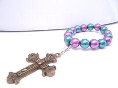 Gold Metal Prayer Cross Beaded Comfort by AllAboutJesusDesigns, https://www.etsy.com/listing/180944596/gold-metal-prayer-cross-beaded-comfort $9.00